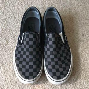 checkered slip on vans